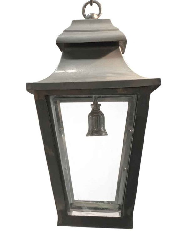 Wall & Ceiling Lanterns - Traditional Nickel Over Brass 22 in. Hanging Lantern