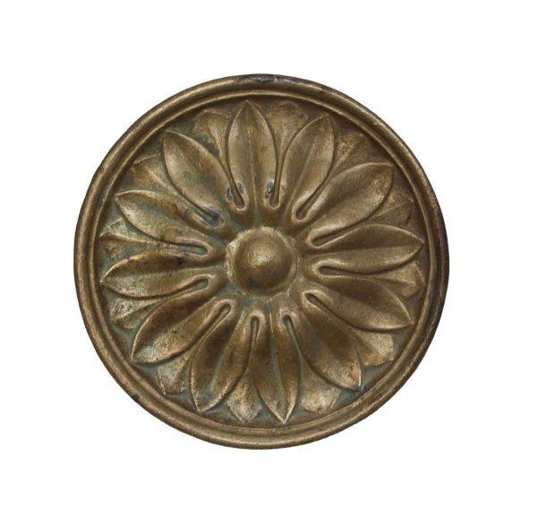 Cabinet & Furniture Knobs - Oversized Brass Floral Radial Drawer Knob