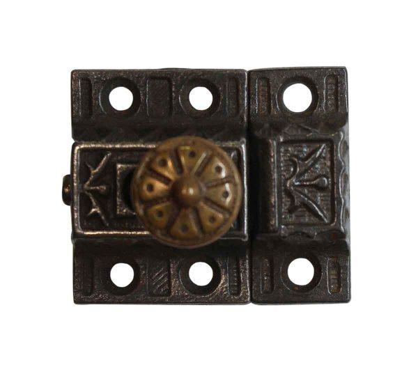 Cabinet & Furniture Latches - Victorian Cast Iron Antique 1.625 in. Cabinet Latch