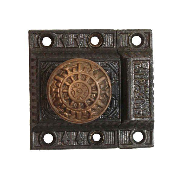 Cabinet & Furniture Latches - Windsor 2.375 in. Bronze Knob Cast Iron Cabinet Latch