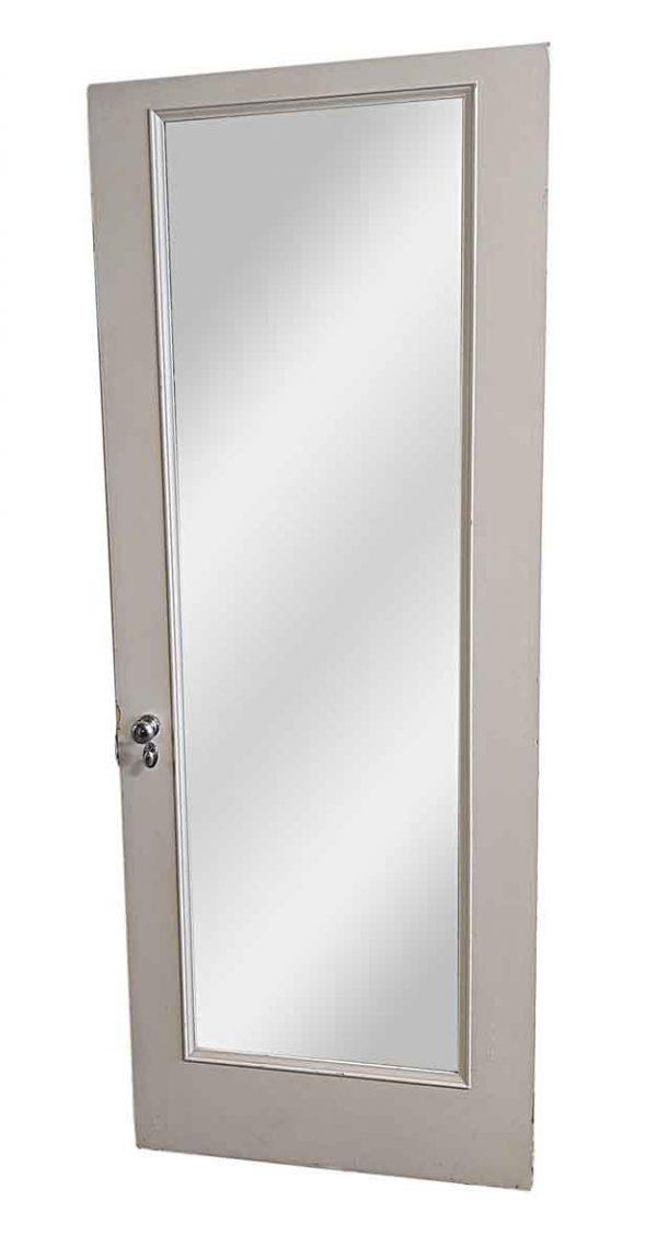 Closet Doors - Antique 1 Panel Mirror Wood Closet Door 80 x 30.75