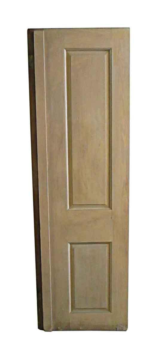 Closet Doors - Antique 2 Pane Wood Closet Door 84.25 x 26.5