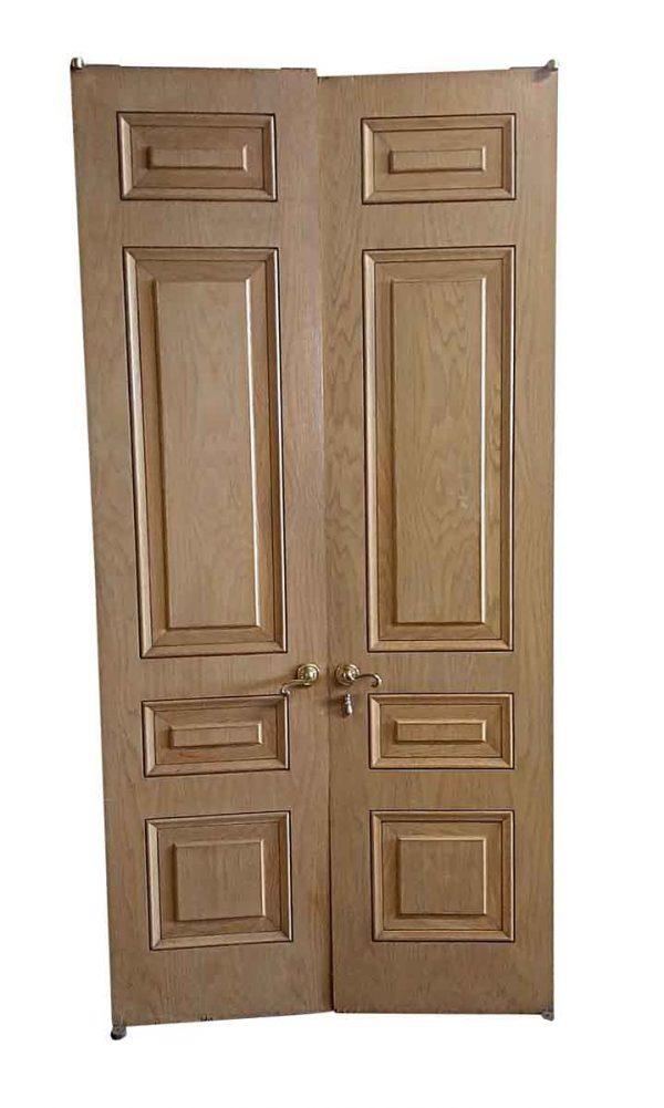 Closet Doors - Antique 4 Pane Wood Closet Double Doors 93 x 45