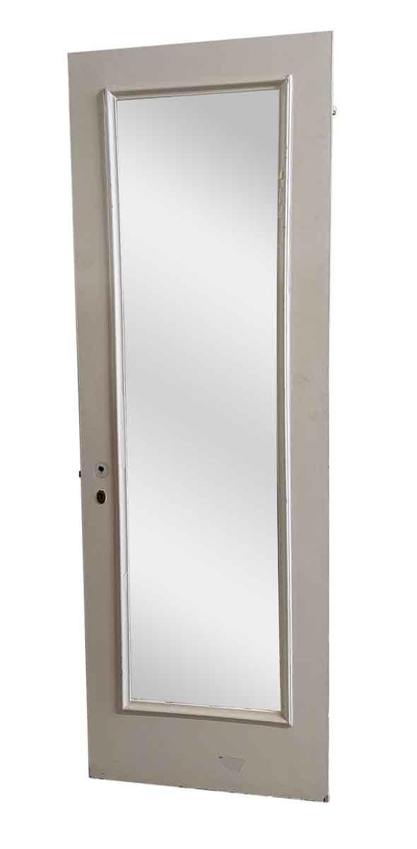 Closet Doors - Antique Mirror Pane White Wood Closet Door 83 x 27.75