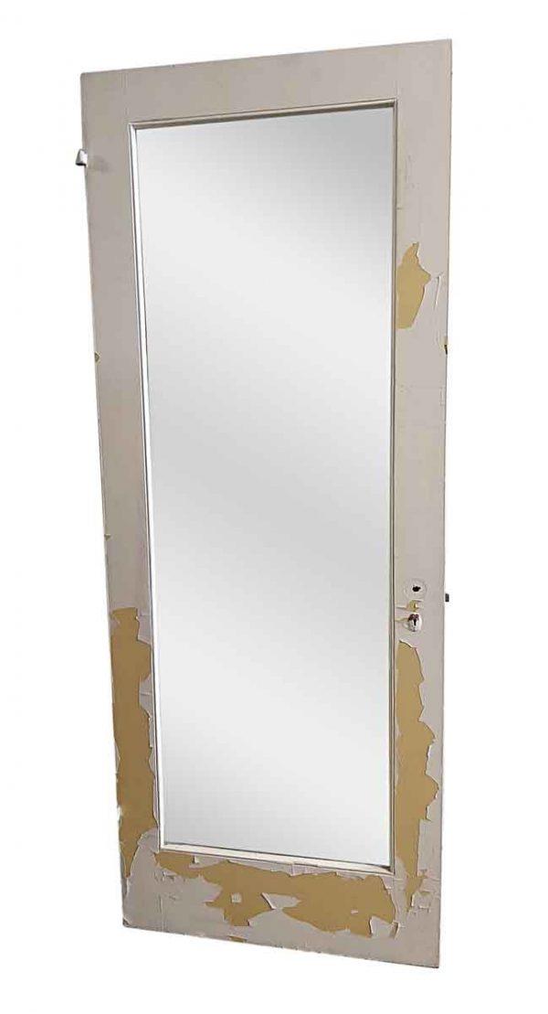 Closet Doors - Antique Mirror Pane Wood Closet Door 83 x 32