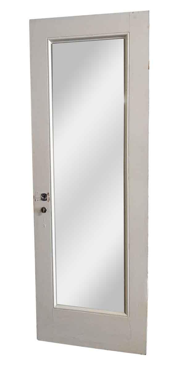 Closet Doors - Antique Mirrored Pane White Closet Door 81 x 27.5