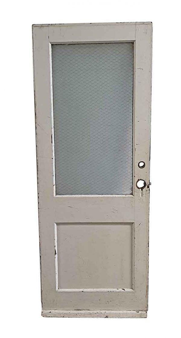 Commercial Doors - Antique 1 Lite & 1 Pane Wood Commercial Door 79.25 x 29.875