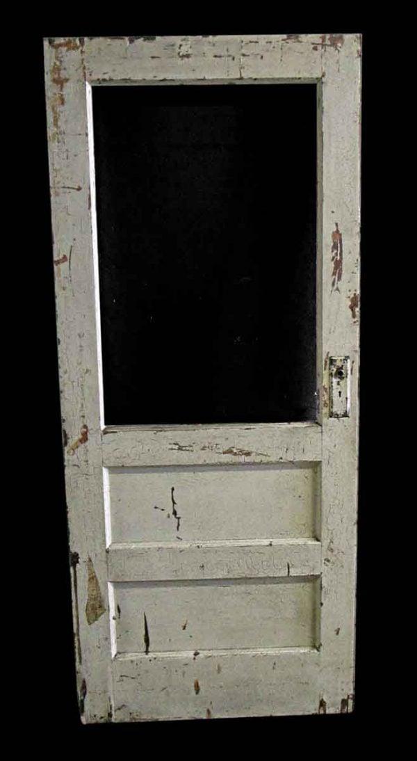 Commercial Doors - Antique 1 Lite 2 Pane Wood Passage Door 79.5 x 34.5