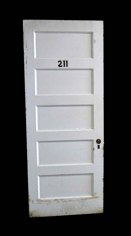 Commercial Doors - Antique 5 Pane Wood Apartment Door 89 x 35