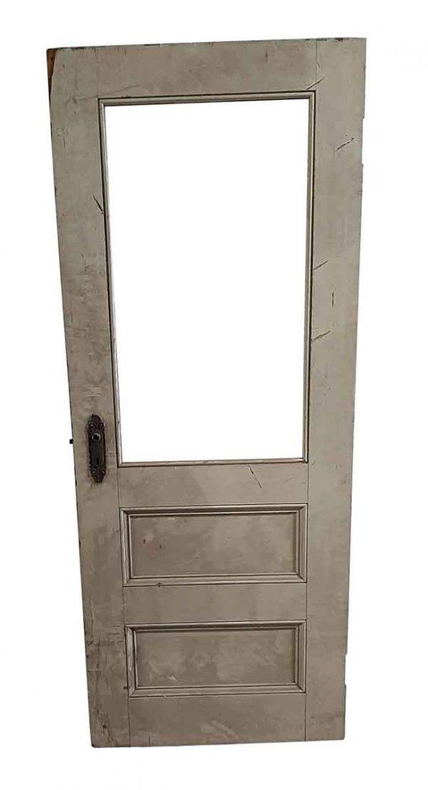 Commercial Doors - Antique Single Lite 5 Pane Wood Passage Door 89.5 x 30