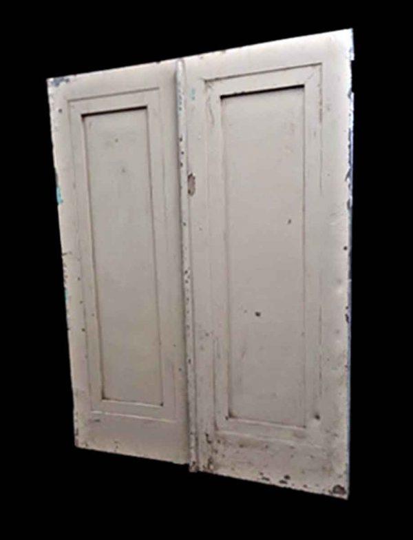 Commercial Doors - Antique Single Panel Metal Double Doors 83.5 x 64