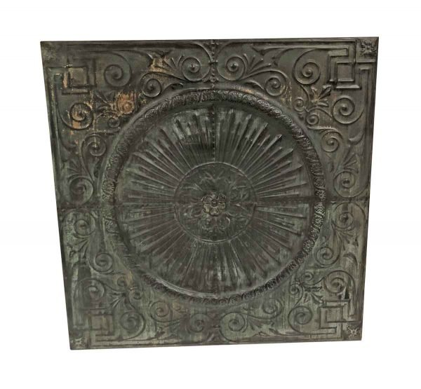 Copper Mirrors & Panels - Black Patina Copper Medallion 47 in. Wall Panel