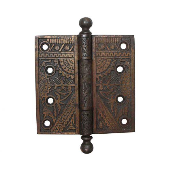 Door Hinges - Aesthetic Branford Brass Plated Cast Iron 4.5 x 4.5 Butt Door Hinge
