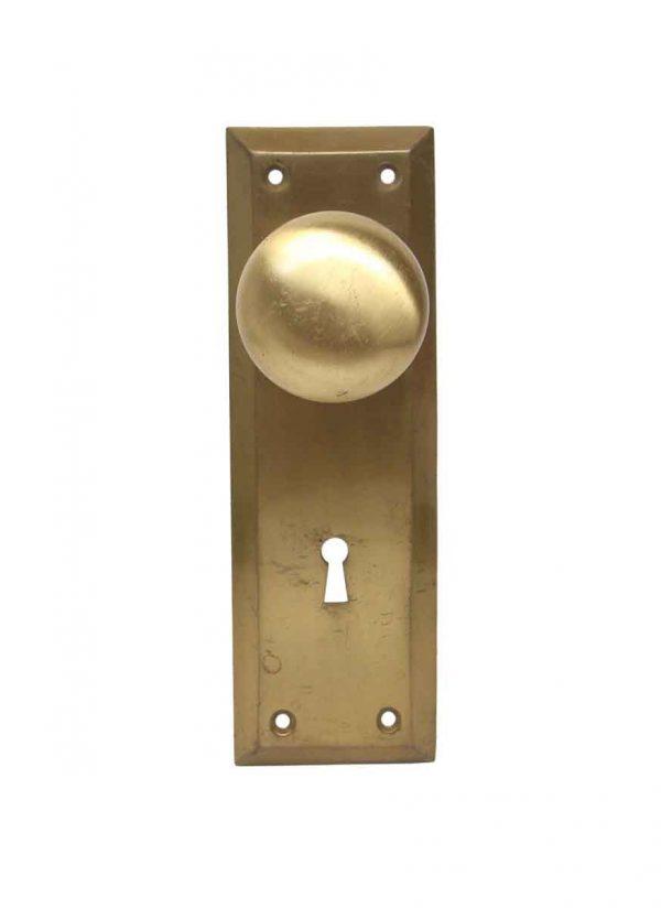 Door Knob Sets - Vintage Classic Interior Brushed Brass Door Knob Set