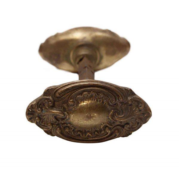 Door Knobs - Antique Rococo St. Denis Bronze Entry Oval Door Knobs