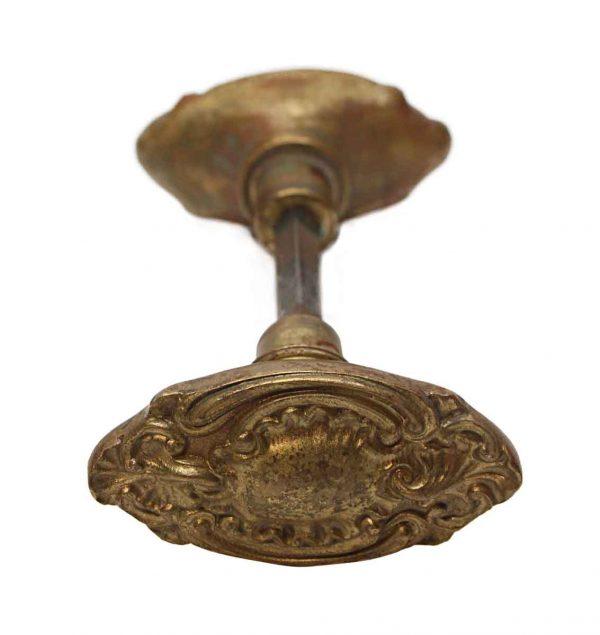 Door Knobs - Antique St. Denis Corbin Rococo Bronze Passage Door Knobs