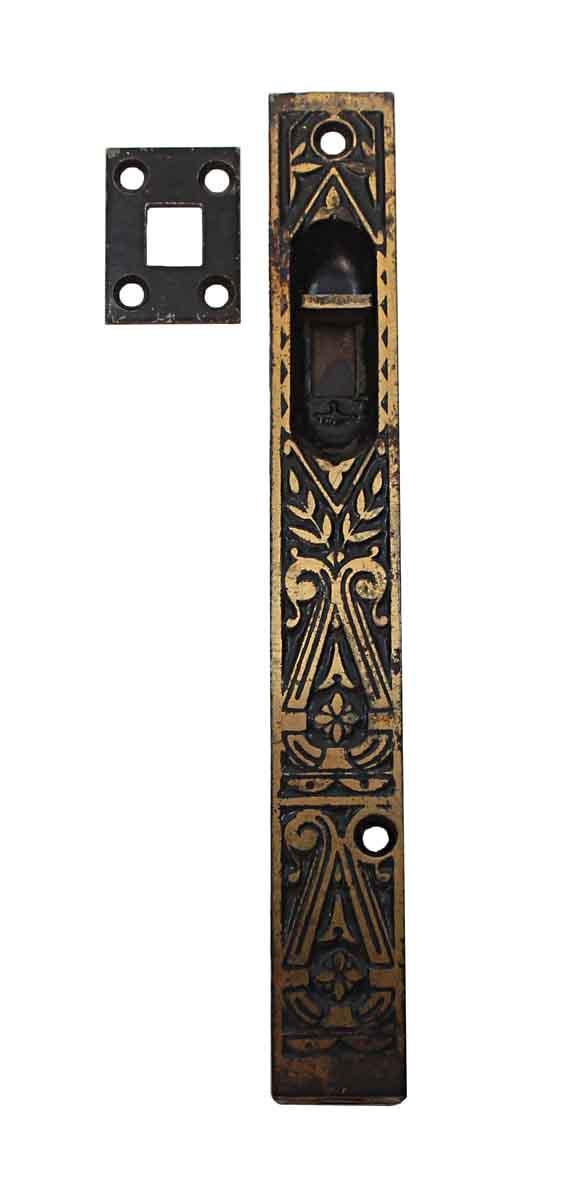 Door Locks - Aesthetic Cast Iron Flush Mount Floor Bolt