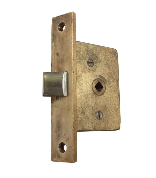 Door Locks - Solid Brass Angled Face Passage Door Mortise Lock