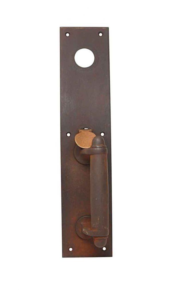 Door Pulls - Antique Classic Cast Iron & Bronze 14 in. Entry Door Pull