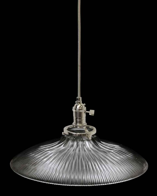 Down Lights - 1920 Holophane 10 in. Ribbed Prism Glass Shade