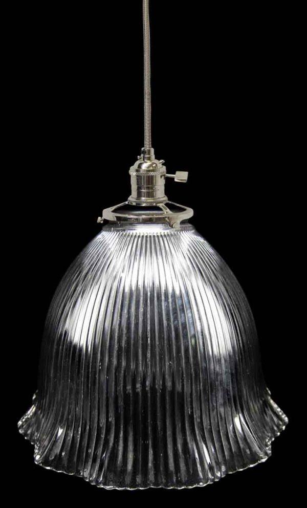 Down Lights - 1920s Holophane 7.625 in. Glass Shade Pendant Light