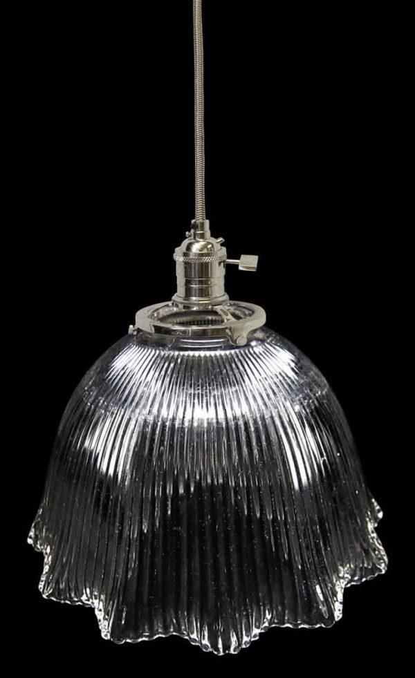 Down Lights - 1920s Holophane 7.75 in. Glass Shade Pendant Light