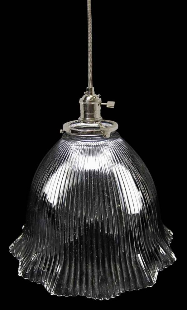 Down Lights - 1920s Holophane 7.875 in. Prism Glass Pendant Light