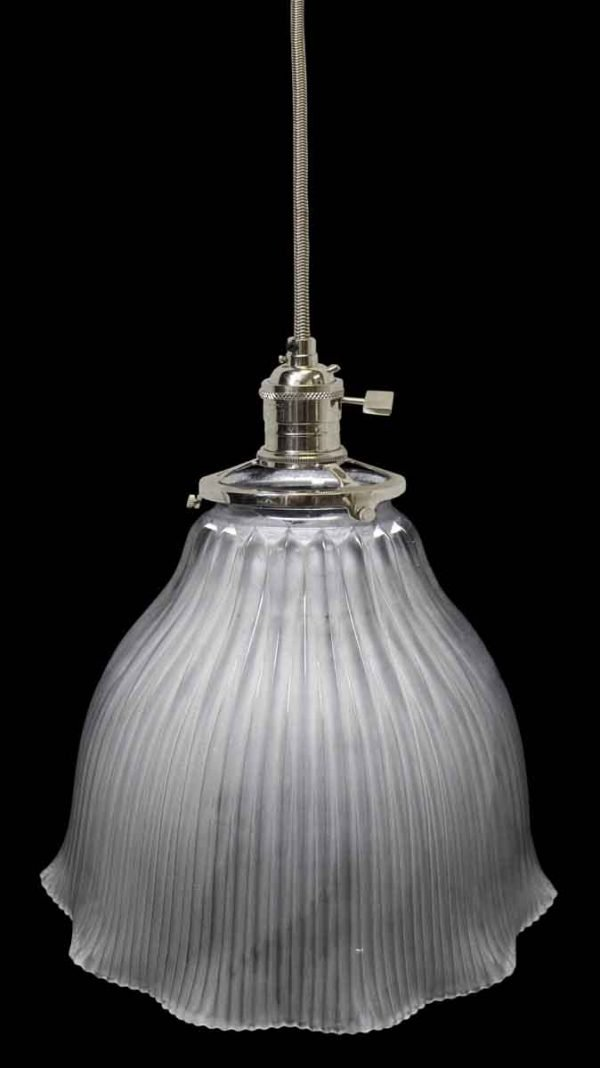 Down Lights - Antique Holophane Frosted 7 in. Glass Pendant Light