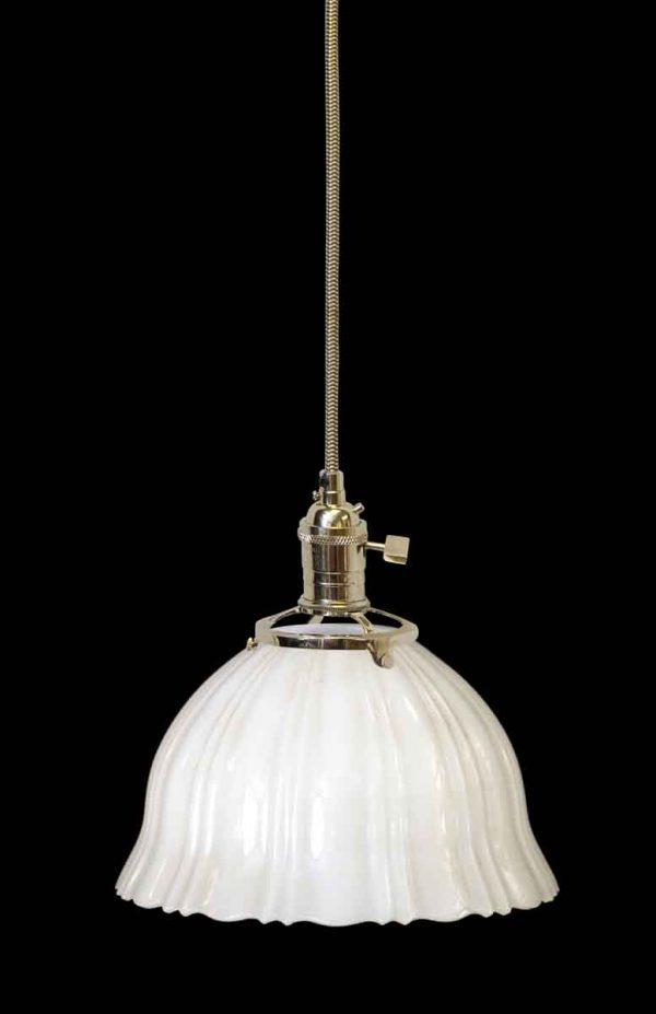 Down Lights - Antique Translucent 8.25 in. Milk Glass Pendant Light