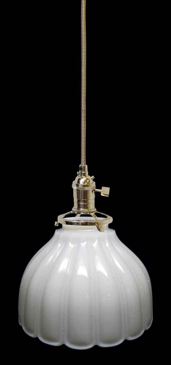 Down Lights - Antique White Milk Glass 6.375 in. Pendant Light