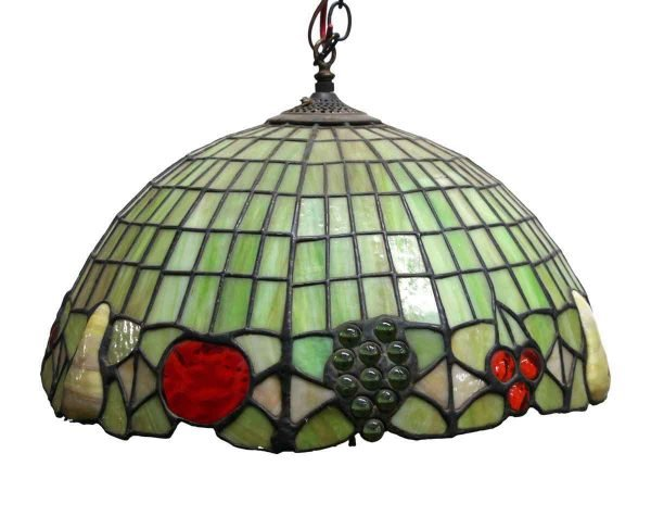 Down Lights - Leaded Stained Glass Tiffany Style Green Pendant Light