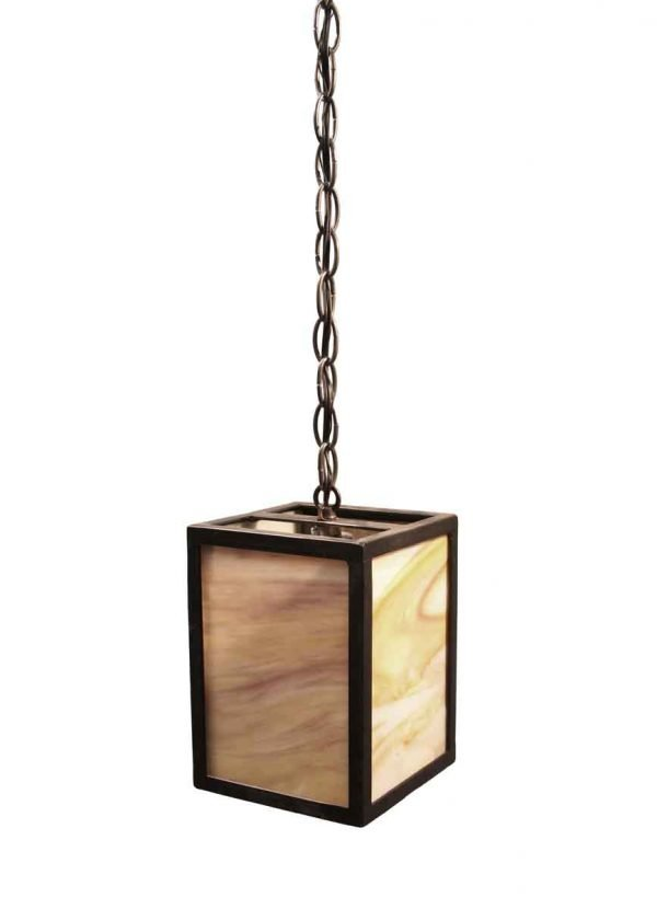 Down Lights - Modern Hand Crafted Iron & Stained Glass Pendant Light