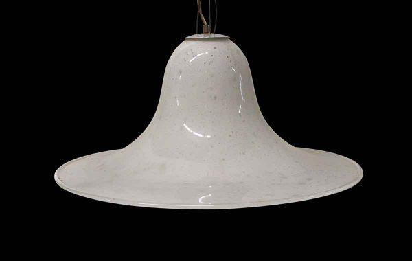 Down Lights - Modern White Murano Streamline Glass Pendant Light