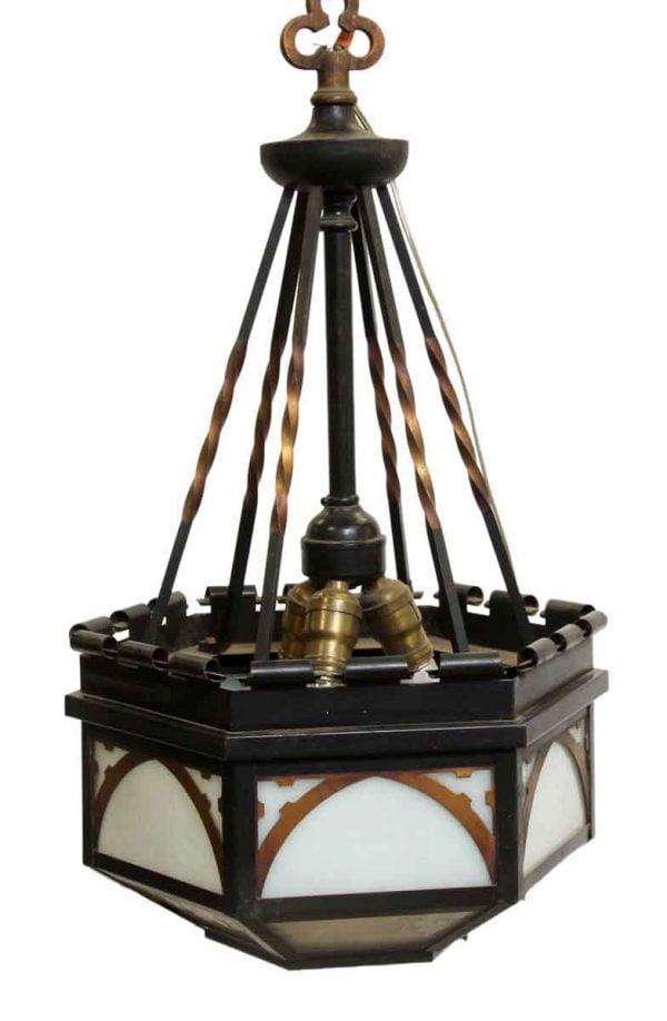 Down Lights - Vintage Gothic Black & Copper Finish Pendant Light
