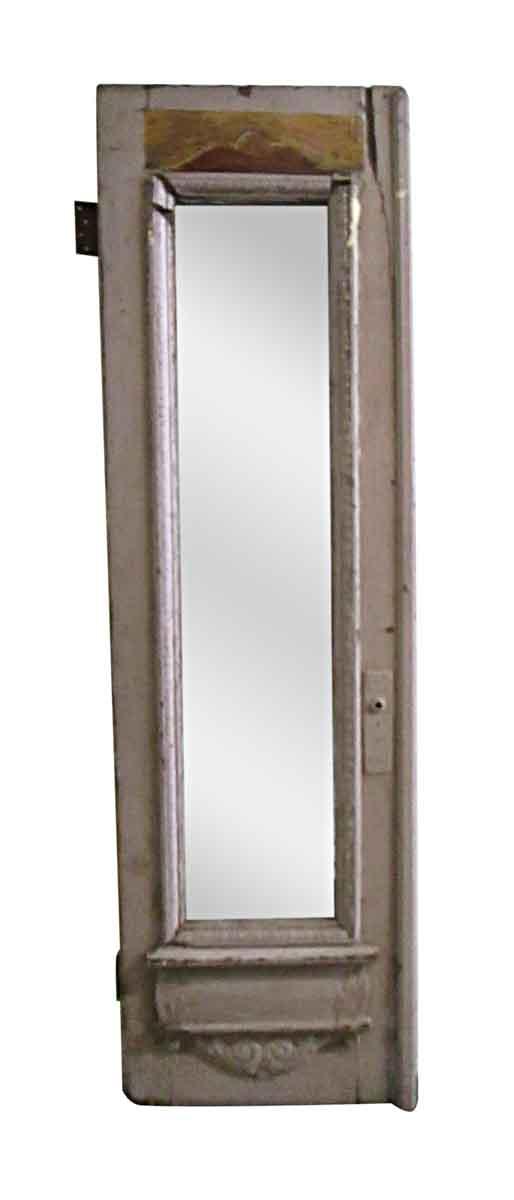 Entry Doors - Antique 1 Lite Wood Entry Half a Double Door 88.75 x 26.25