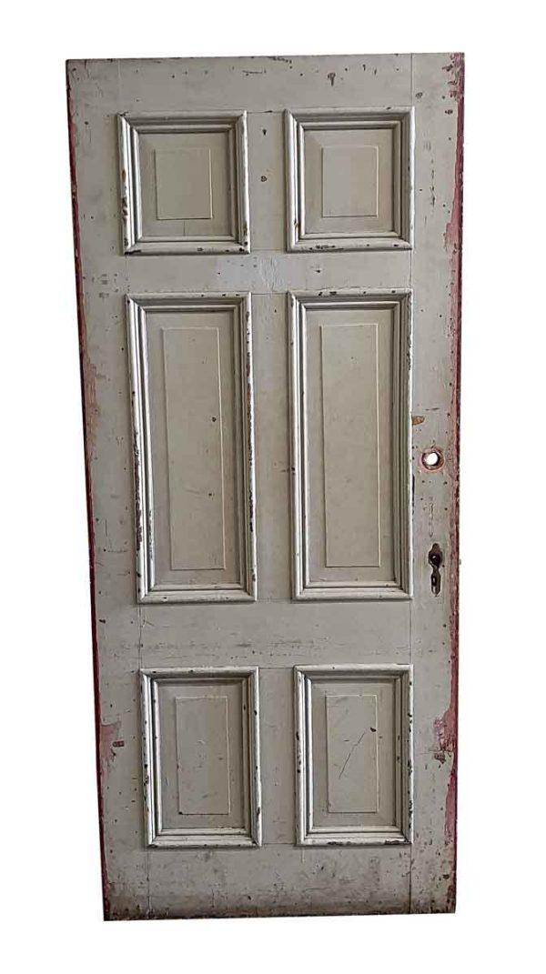 Entry Doors - Antique 6 Pane Wood Entry Door 83 x 35.75