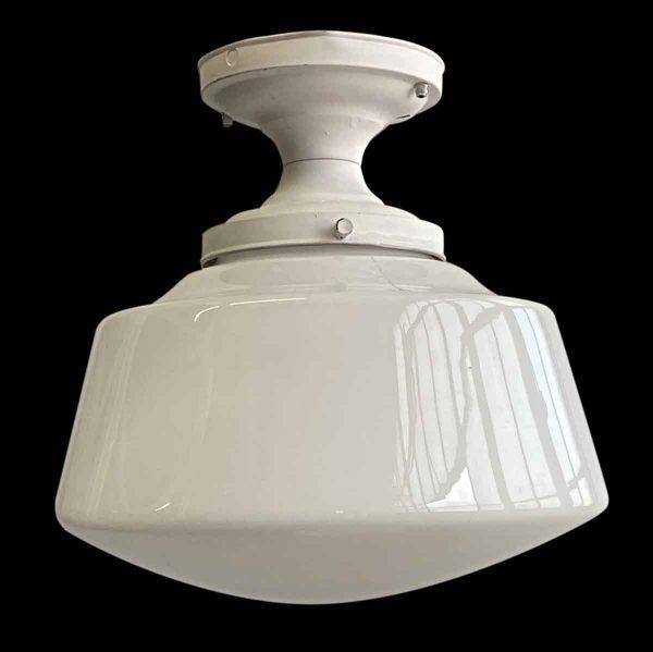 Flush & Semi Flush Mounts - 1940s Flush Mount Opaline Glass Globe Kitchen Light