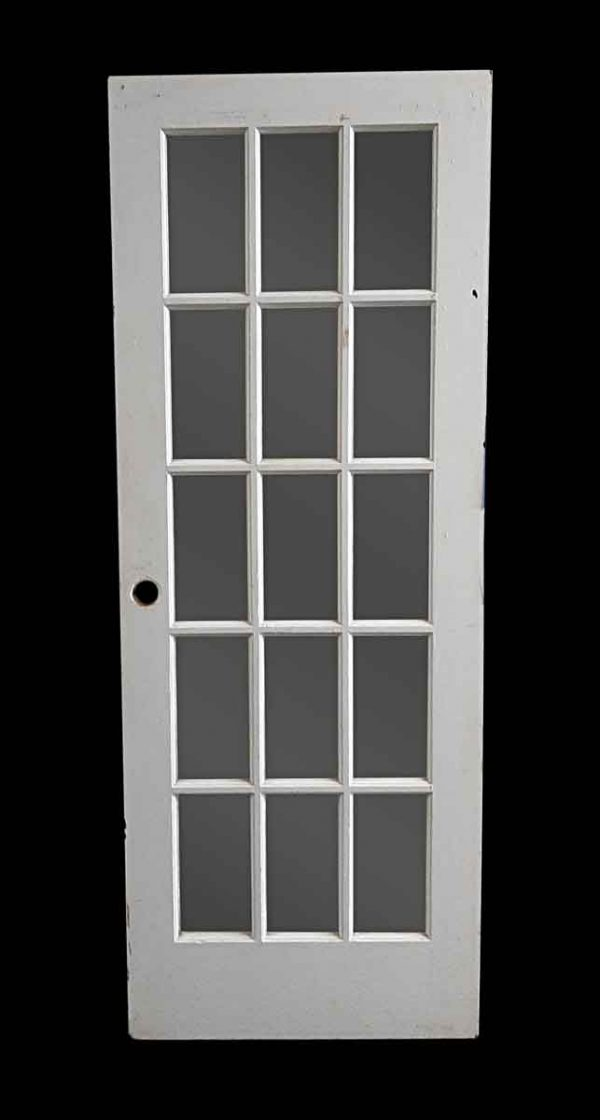 French Doors - Vintage 15 Lite White French Door 80 x 30