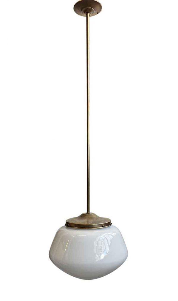 Globes - 1940s Schoolhouse 12.5 in. Globe Brass Pendant Light