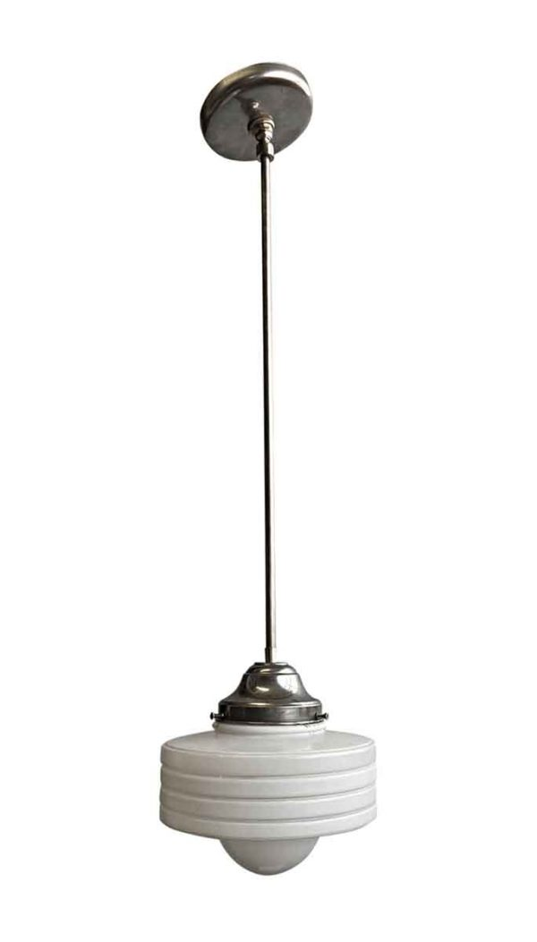 Globes - 1950s Concentric Circle 9 in. Globe Pendant Light