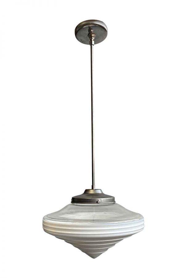 Globes - 1960s Mid Century Modern George Jetson Glass Pendant Light