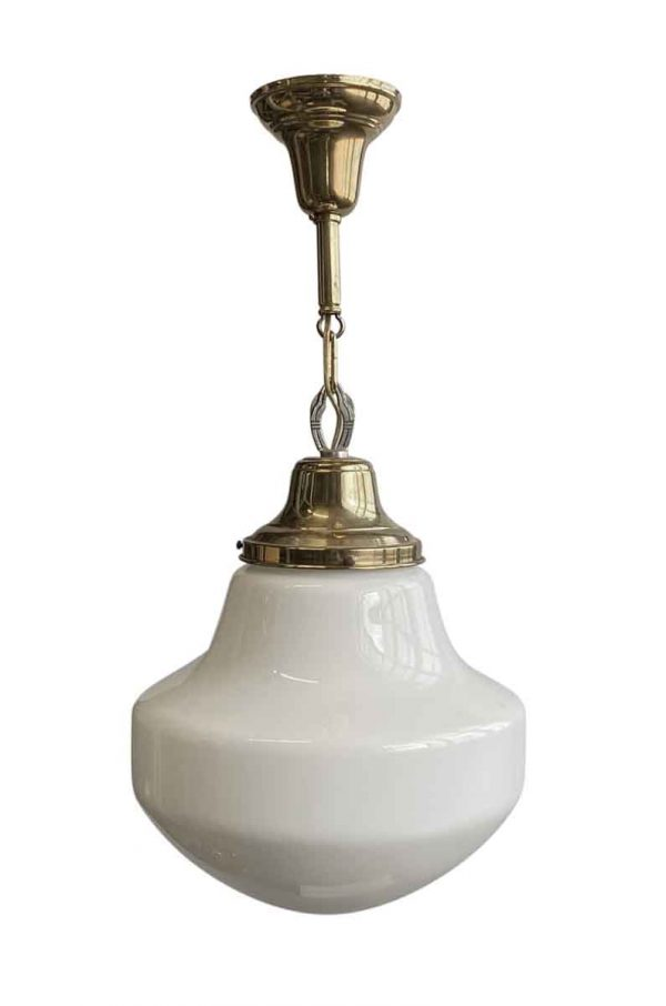 Globes - Art Deco Schoolhouse 13.75 in. Globe Brass Pendant Light