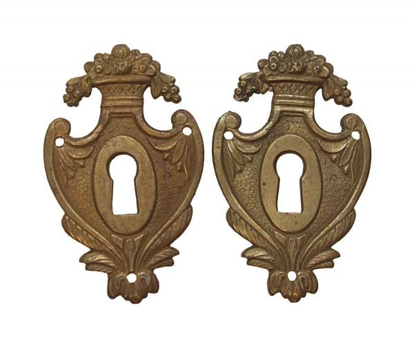 Keyhole Covers - Victorian Brass Pair of Keyhole Covers