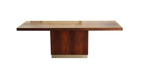 Living Room - Mid Century Narrow Walnut Coffee Table with Streamline Base