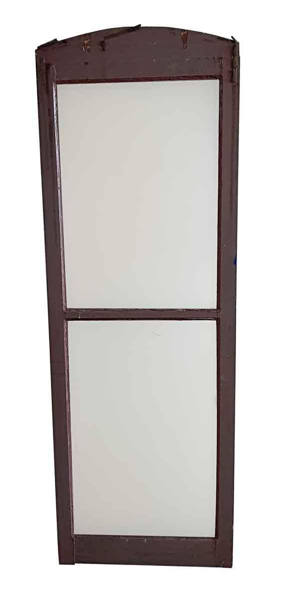 Reclaimed Windows - Antique 2 Lite Plexiglas & Wood Arched Window