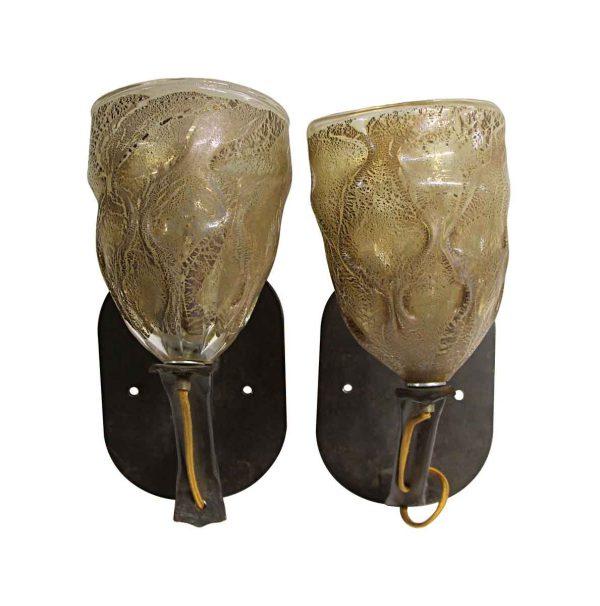 Sconces & Wall Lighting - Modern Art Hand Blown Glass Wall Sconces