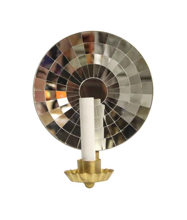 Sconces & Wall Lighting - New Mirrored Single Arm Brass Sconce