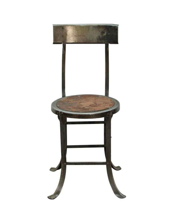 Seating - Reclaimed Industrial Dark Steel Armless Stool