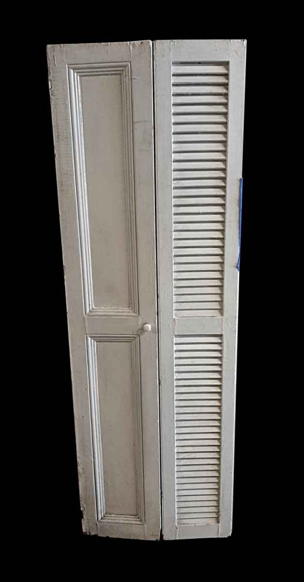 Shutters - Pair of 69 x 23.25 White Wood Shutters