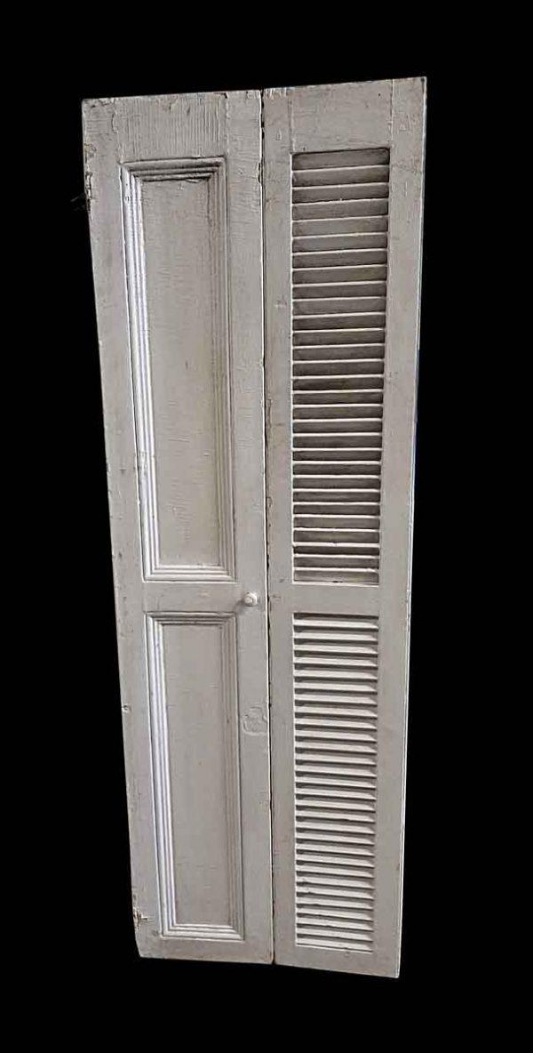 Shutters - Pair of 70 x 23.75 White Wood Shutters